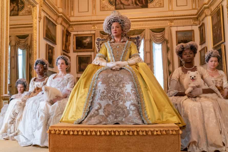 Great wigs … Golda Rosheuvel as Queen Charlotte in Bridgerton.