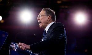 Wayne LaPierre at last year's CPAC. The NRA has faced a public outcry in the wake of the recent school shooting in Florida.