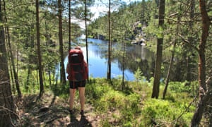 One of the many lakes on the Dalsland Pilgrim Trail