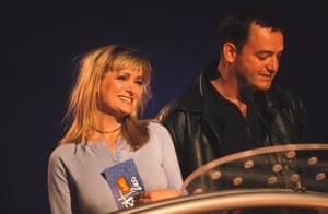 Caroline Aherne and Craig Cash at the Brit awards in 2000