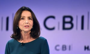 Carolyn Fairbairn speaking at the annual CBI conference in London