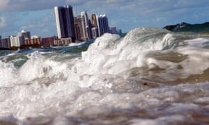 Miami is one of a number of US cities at risk from the effects of climate change.