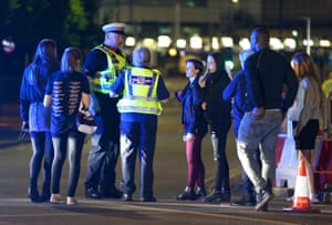 Police talk to concert goers
