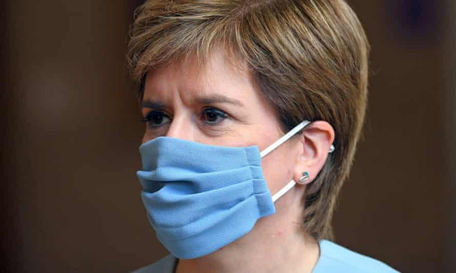 Scottish first minister Nicola Sturgeon arrives for first minister's questions at the Scottish parliament in Edinburgh