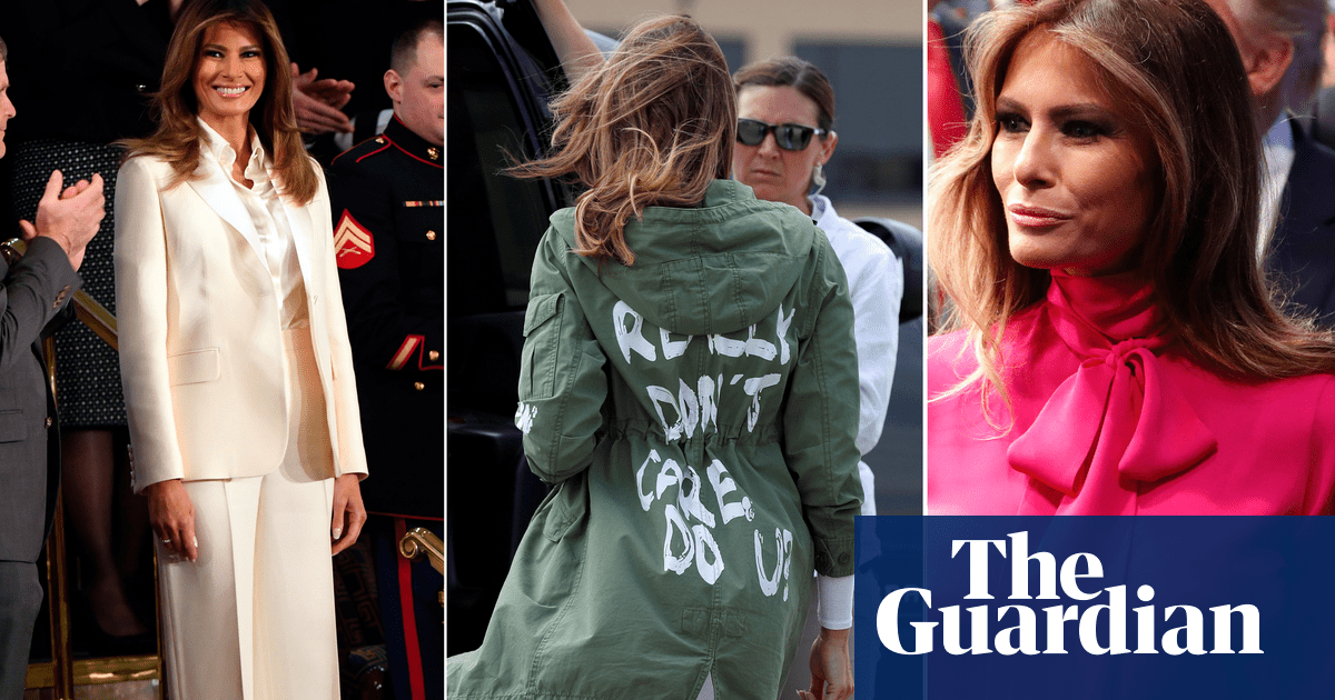 ba3e75afa Is Melania Trump using fashion to troll her husband? | US news | The ...