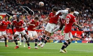 Aston Villa's Kortney Hause scores their first goal.