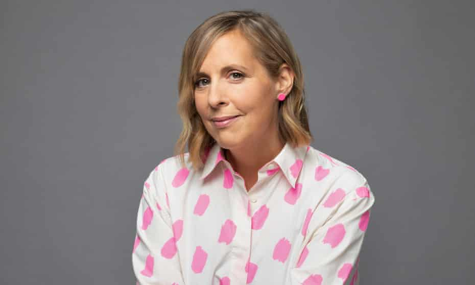 Television presenter, actor and author Mel Giedroyc, 2021. Portrait by Laurie Fletcher ( her copyright , not commissioned, exclusives for Observer New Review interview feature from publishers)