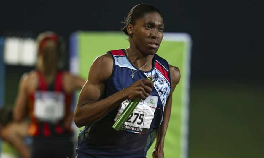 Caster Semenya at an athletics meet in Johannesburg, April 2019