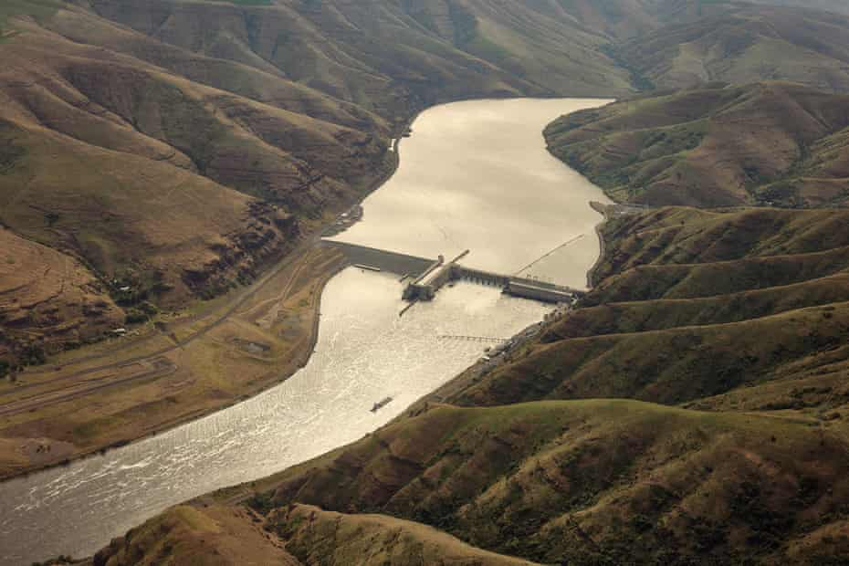 Lower Granite Dam seen on the Snake River in Pomeroy, Washington on Wednesday, May 12, 2021. Rep. Mike Simpson, R-Idaho, has proposed breaching the Ice Harbor, Little Goose, Lower Granite, Lower Monumental dams along the Snake River to help save the endangered salmon runs.