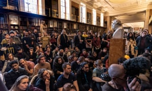 Campaigners attend a tour of the British Museum calling for the return of stolen cultural objects last year