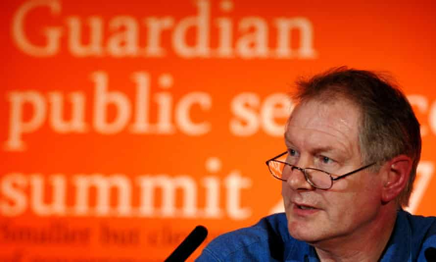 Roy Greenslade speaking at the Guardian's Public Services Summit in St Albans, 2007.