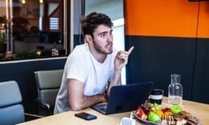 Deyes in the offices of A-Z Creative, the agency he set up with his girlfriend, Zoe Sugg, AKA YouTuber Zoella.