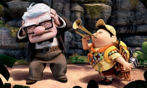 Unlikely friendship … Carl and Russell in Up.