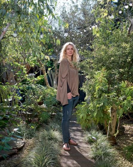 Ahern in her east London garden