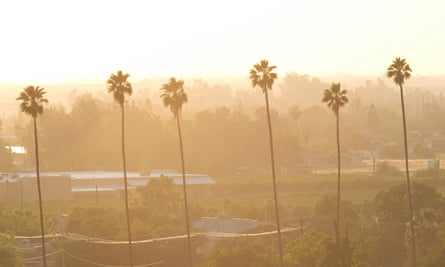 Hazy skies in Porterville: 'On bad days you see the haze and feel the sting in your throat.'