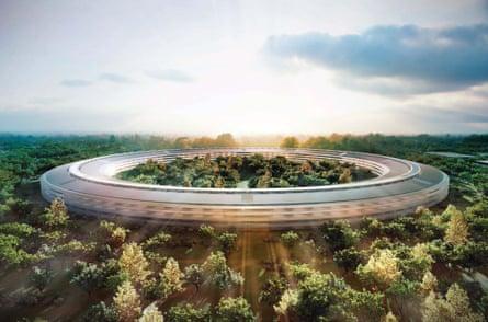 Apple's new HQ in Cupertino, California.