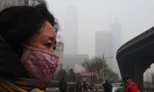 Smog in Beijing, China, on 9 December 2015