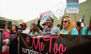 The #MeToo survivors rally in Hollywood last month.