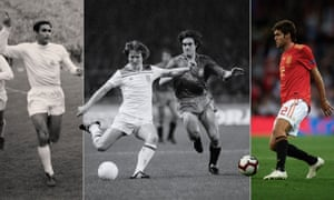 Marcos Alonso playing for Real Madrid in 1960, Marcos Alonso playing for Spain in 1981 and Marcos Alonso playing for Spain in 2018. Photographs by Getty and PA. Composite by Jim Powell.