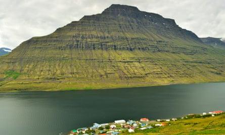 Eskifjordur, a fjord in east Iceland.