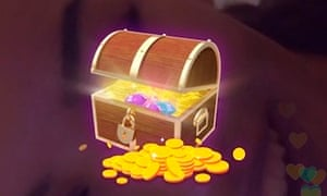 A Live.me gift of a treasure chest