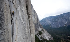 Honnold solos the Nose on El Capitan.