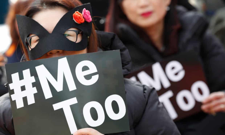 South Korean women mark International Women's Day.
