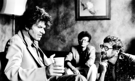 Gregory Corso, with Edward Limonov and Michael Horowitz, 1980.