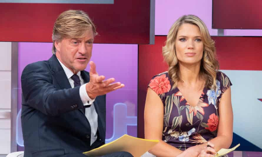 Richard Madeley on Good Morning Britain with co-host Charlotte Hawkins.