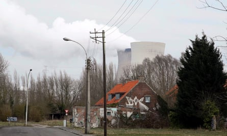 Steam rises from the cooling towers of the Doel nuclear power plant in Antwerp, Belgium.