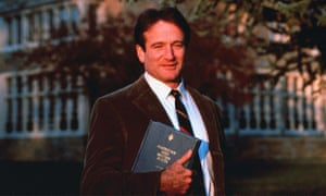 Robin Williams in Dead Poets Society.