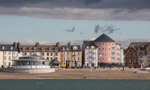 A view of Aberystwyth from the sea