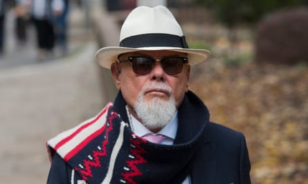 Singer Gary Glitter, a convicted paedophile.