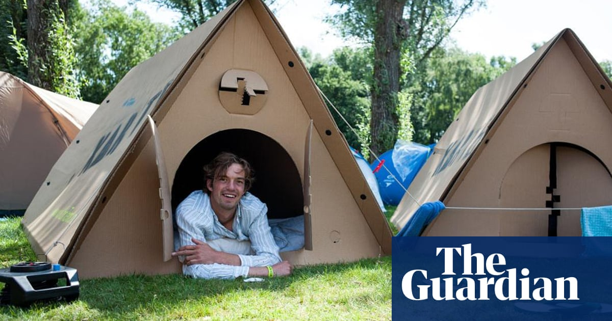 Living in a box: the cardboard and bioplastic tents pitching up at
