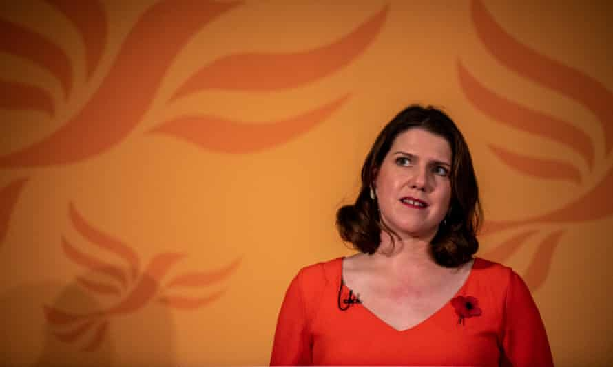 The Liberal Democrat leader, Jo Swinson, at the launch of the party's general election campaign.