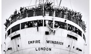 The Empire Windrush arrives at the Port of Tilbury on the River Thames on 22 June 1948.