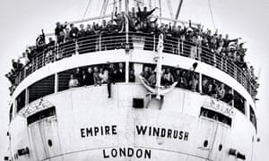 The Empire Windrush at Tilbury docks on 22 June 1948.
