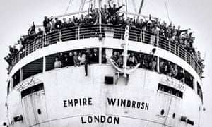 New arrivals The MV Empire Windrush at Tilbury Docks in 1948. Photograph: Alamy