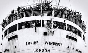 The Empire Windrush arriving at Tilbury on 22 June 1948.