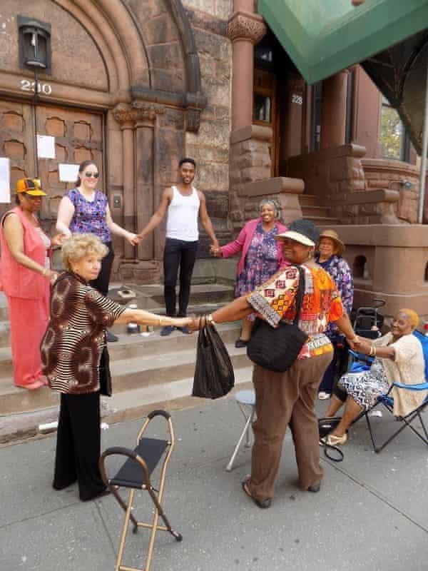 A sidewalk service, outside St Martin's.