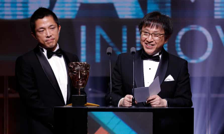 Kiyohiko Ando and Shinya Takahashi pick up the game innovation Bafta for Legend of Zelda: Breath of the Wild.