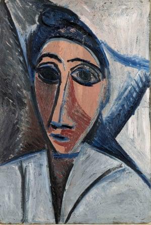 Pablo Picasso, Bust of Woman or Sailor (Study for Les Demoiselles d'Avignon), Paris, spring 1907