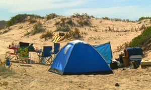 The Coorong national park campsite in South Australia where two foreign female backpackers were allegedly assaulted, raped and kidnapped at Salt Creek on Tuesday 9 February 2016
