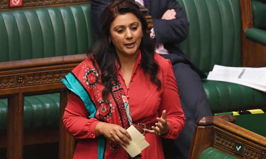 The Conservative MP Nusrat Ghani in parliament