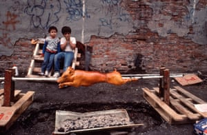 Photographer Arlene Gottfried photographs of Puerto Rican community in New York in the 70's and 80's on show at Daniel Cooney Fine Art gallery in New York until 16 April 2016.
