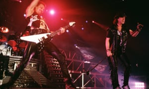 Scorpions On Stage In NurembergRudolf Schenker and Klaus Meine of the Scorpions perform on stage at the Frankenhalle in Nuremberg, Germany in December 1990.
