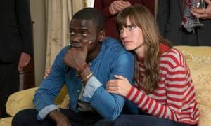 Daniel Kaluuya as Chris Washington and Allison Williams as Rose Armitage in Get Out.