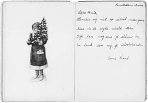 Anne friendship book classmate Dinie, 1940.