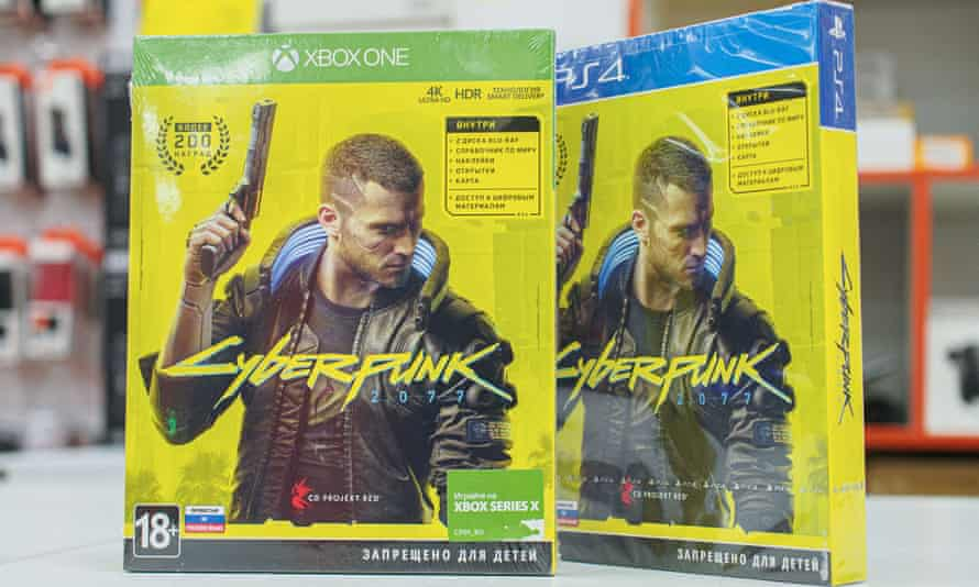 Cyberpunk 2077 video game on sale in Moscow