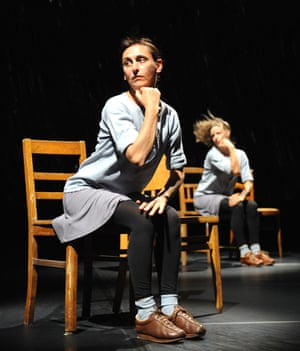 Anne Teresa de Keersmaeker, left, with Samantha van Wissen in Rosas Danst Rosas at Sadler's Wells, London, in 2009.